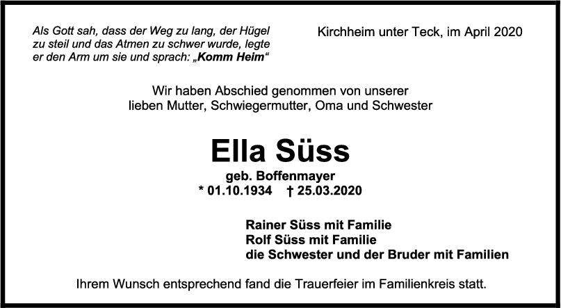 Trauer Ella Süss <br><p style=