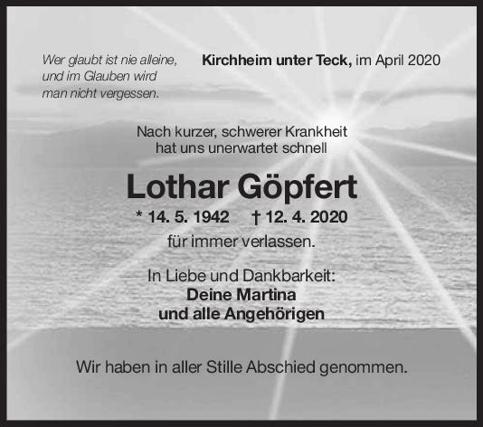 Trauer Lothar Göpfert <br><p style=