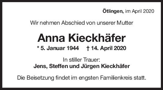 Trauer Anna Kieckhäfer <br><p style=