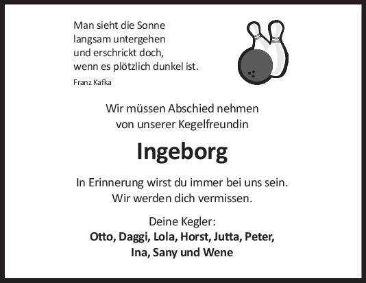 Nachruf Ingeborg <br><p style=