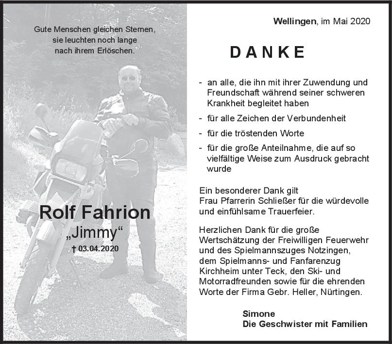 """Danksagung Rolf Fahrion <br><p style=""""font-size: 10px; text-align: center;"""">02/05/2020</p>"""