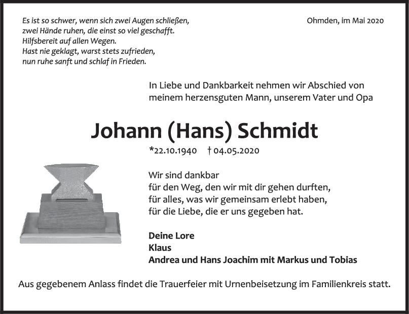 Trauer Johann Schmidt <br><p style=