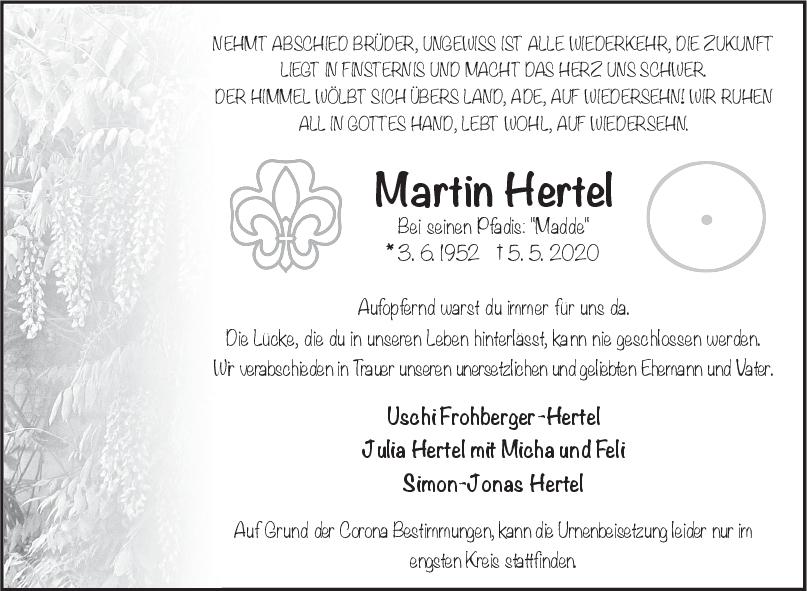 Trauer Martin Hertel <br><p style=