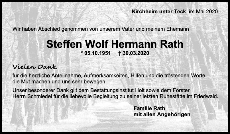 Trauer Steffen Wolf Hermann Rath <br><p style=
