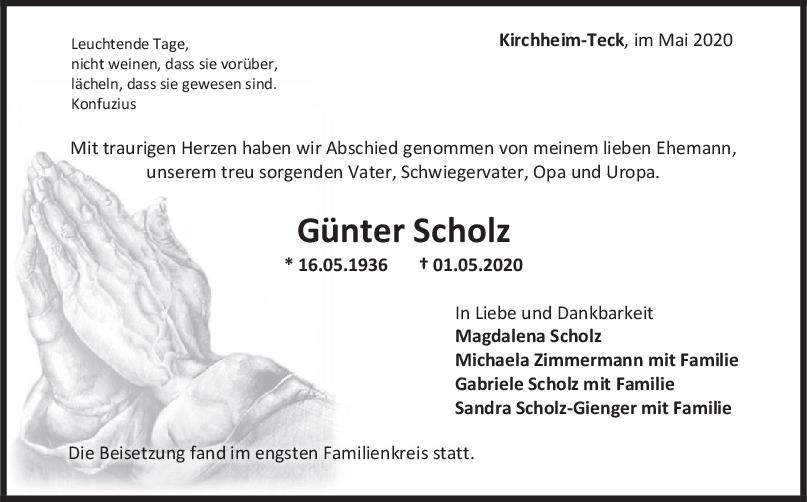 Trauer Günter Scholz <br><p style=