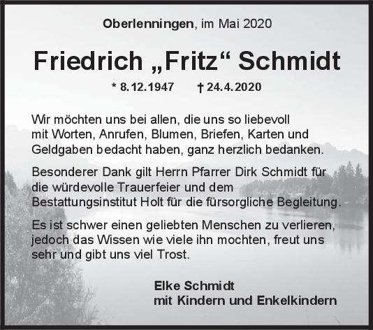 """Danksagung Friedrich Schmidt <br><p style=""""font-size: 10px; text-align: center;"""">16/05/2020</p>"""