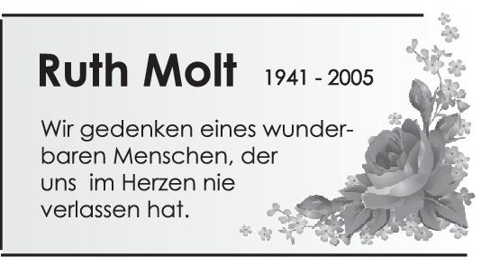Nachruf Ruth Molt <br><p style=