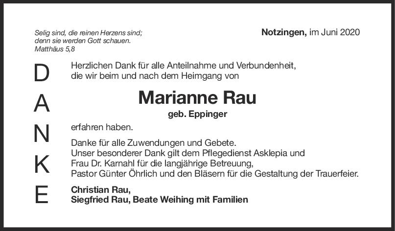 """Danksagung Marianne Rau <br><p style=""""font-size: 10px; text-align: center;"""">06/06/2020</p>"""