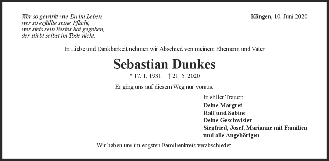 """Trauer Sebastian Dunkes <br><p style=""""font-size: 10px; text-align: center;"""">10/06/2020</p>"""