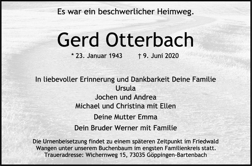 Trauer Gerd Otterbach <br><p style=