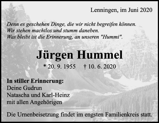 Trauer Jürgen Hummel <br><p style=