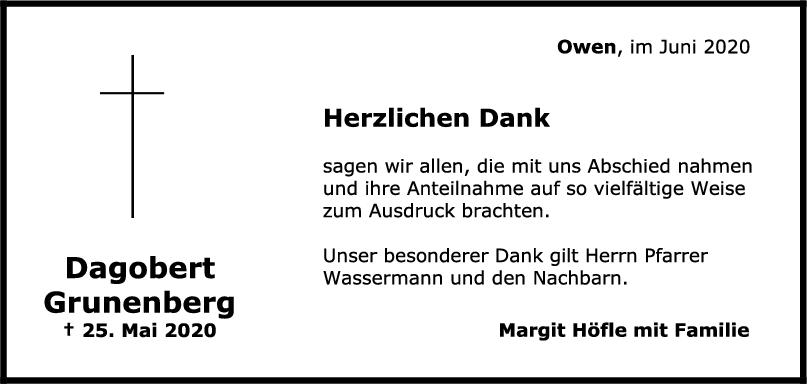 """Danksagung Dagobert Grunenberg <br><p style=""""font-size: 10px; text-align: center;"""">20/06/2020</p>"""