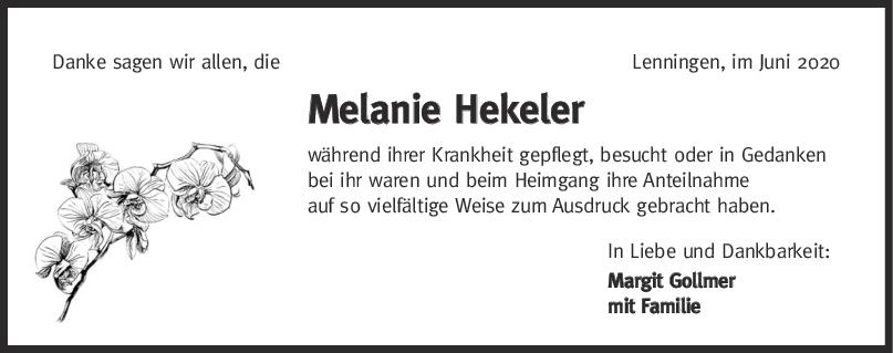 Danksagung  Melanie Hekeler <br><p style=