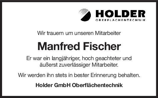 Nachruf Manfred Fischer <br><p style=