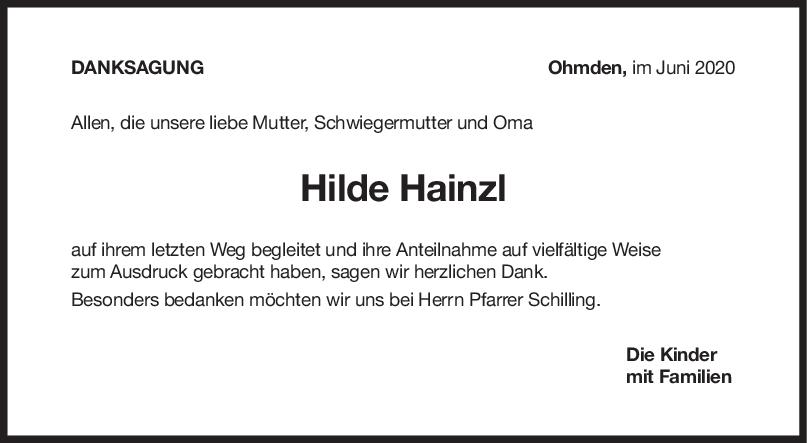 """Danksagung Hilde Hainzl <br><p style=""""font-size: 10px; text-align: center;"""">27/06/2020</p>"""