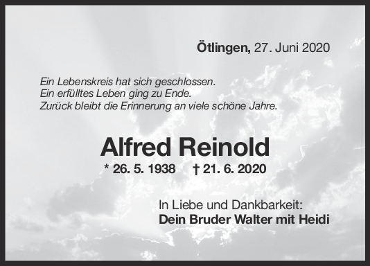 """Trauer Alfred Reinold <br><p style=""""font-size: 10px; text-align: center;"""">27/06/2020</p>"""