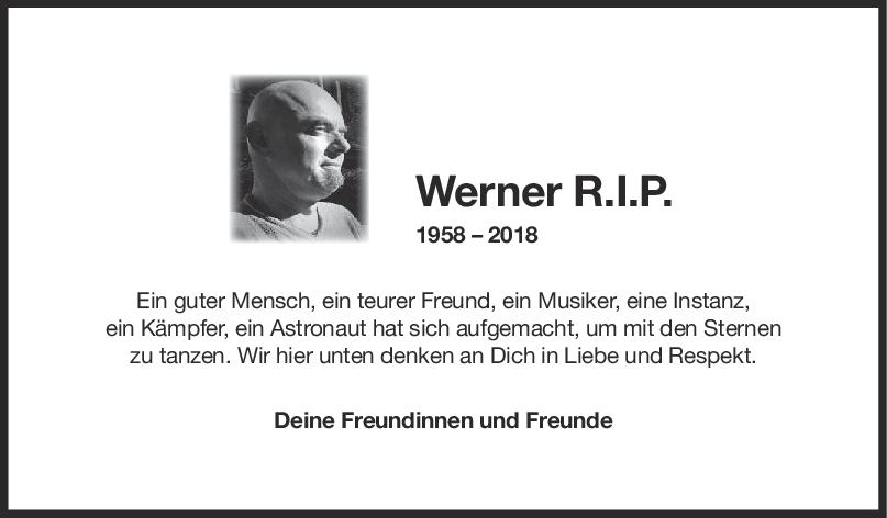 Nachruf Werner <br><p style=