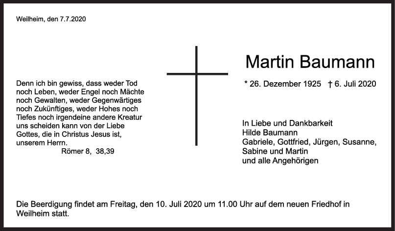 Trauer Martin Baumann <br><p style=