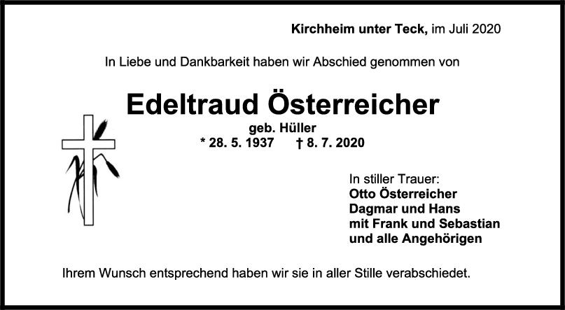 Trauer Edeltraud Österreicher <br><p style=