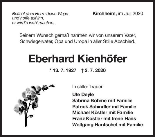 Trauer Eberhard Kienhöfer <br><p style=