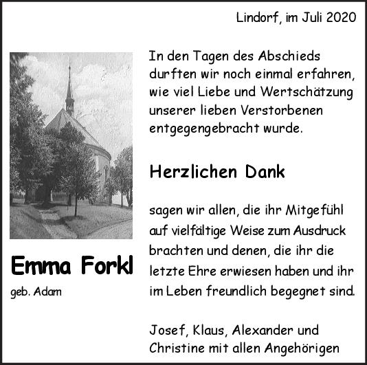 Danksagung Emma Forkl <br><p style=