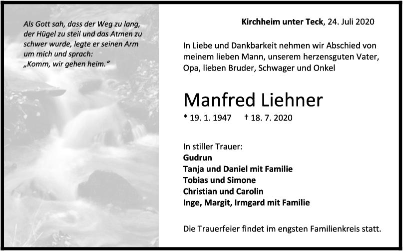 Trauer Manfred Liehner <br><p style=