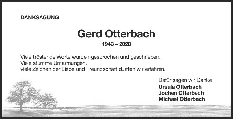 Danksagung Gerd Otterbach <br><p style=