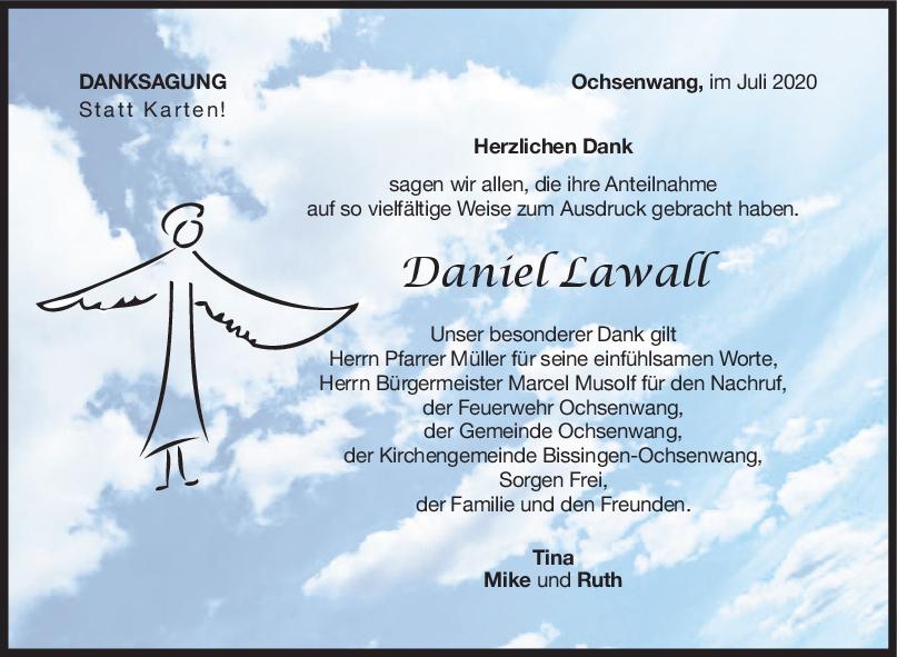 Danksagung Daniel Lawall <br><p style=