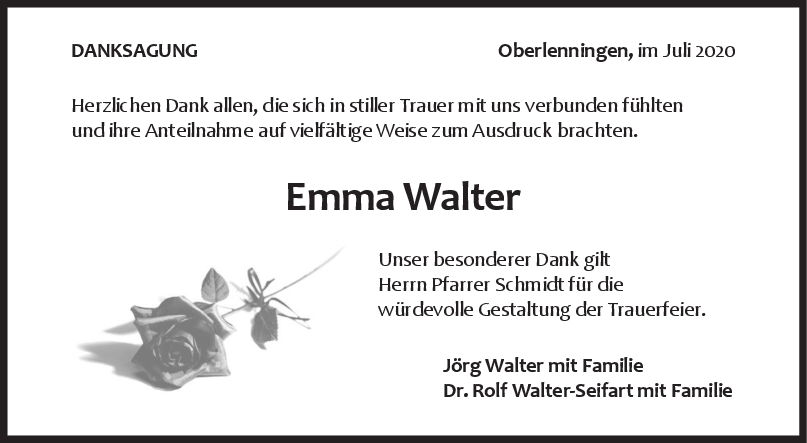 Danksagung Emma Walter <br><p style=
