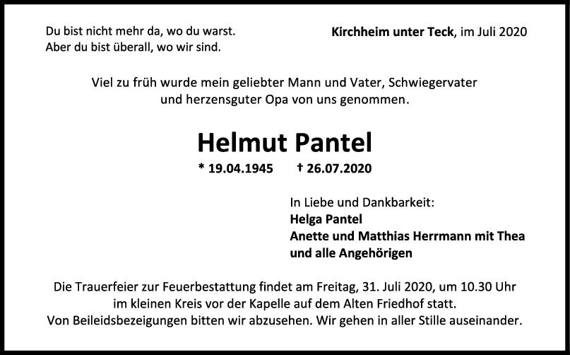 Trauer Helmut Pantel <br><p style=