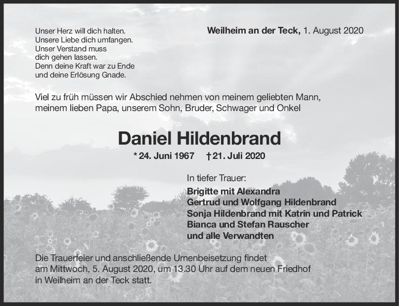 Trauer Daniel Hildenbrand <br><p style=