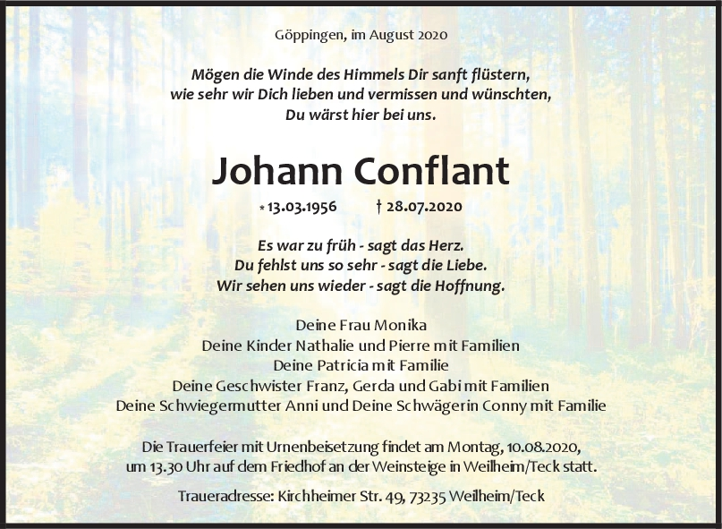Trauer Johann Conflant <br><p style=