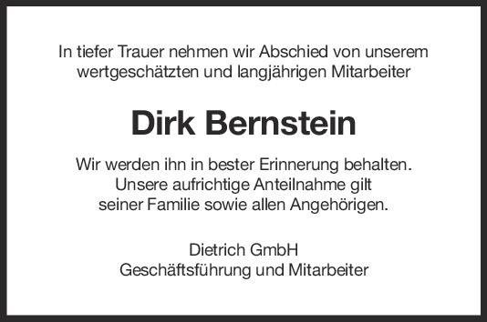 Nachruf Dirk Bernstein <br><p style=