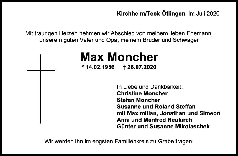 Trauer Max Moncher <br><p style=