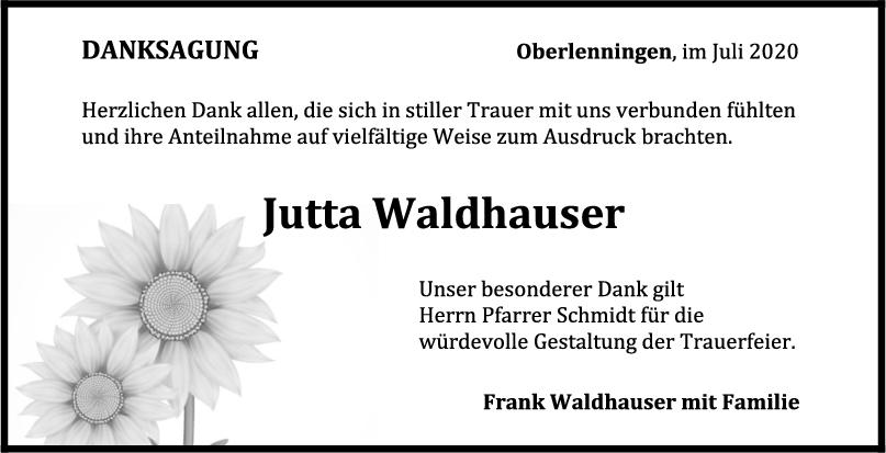 Danksagung Jutta Waldhauser <br><p style=