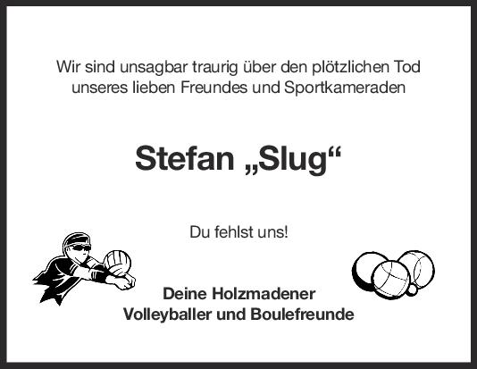 Nachruf Stefan Gruhl <br><p style=