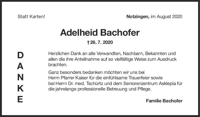 Danksagung Adelheid Bachofer <br><p style=