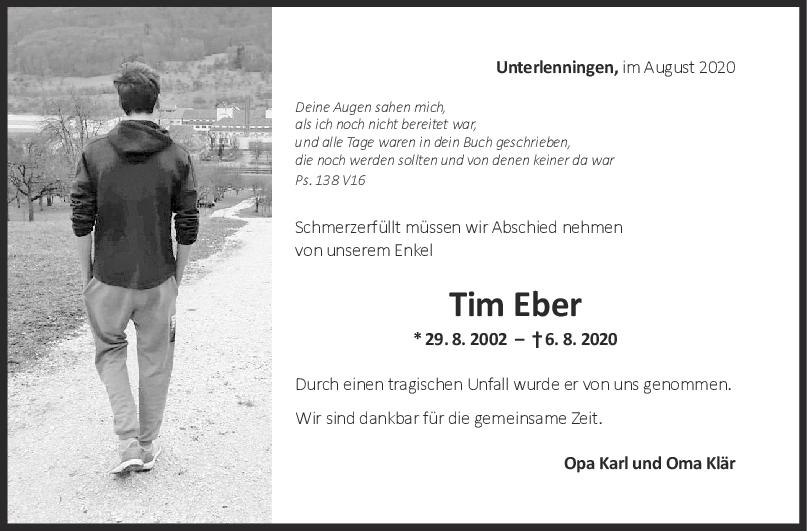 Nachruf Tim <br><p style=