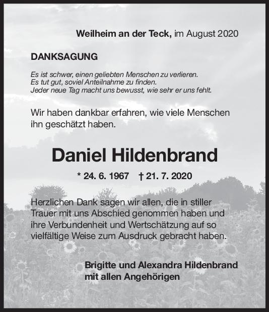 Danksagung  Daniel Hildenbrand <br><p style=