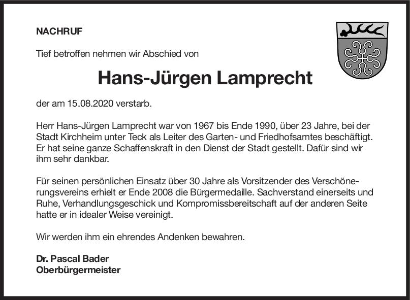 Nachruf Hans-Jürgen Lamprecht <br><p style=