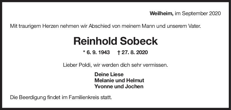 Trauer Reinhold Sobeck <br><p style=