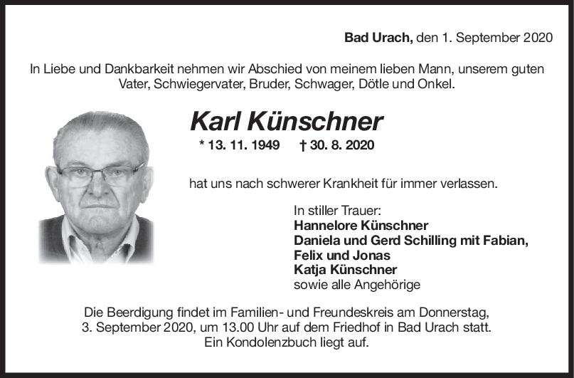 Trauer Karl Künschner <br><p style=