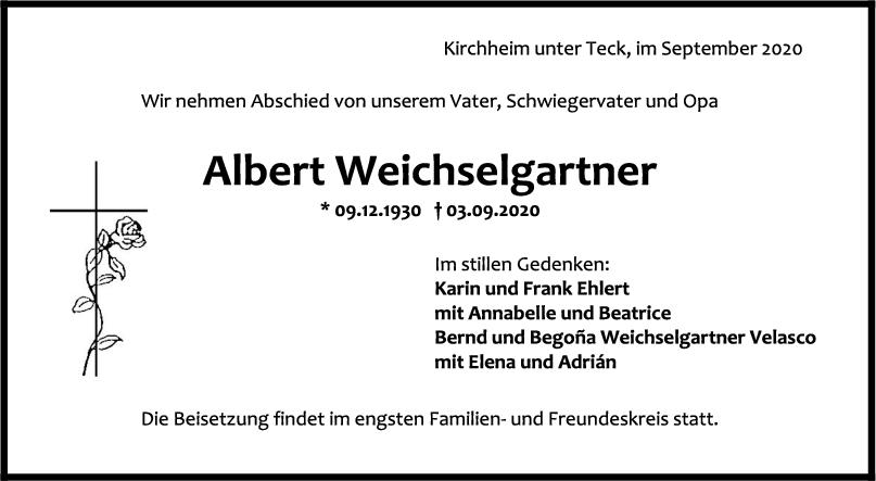 Trauer Albert Weichselgartner <br><p style=