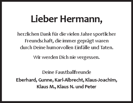 Nachruf Dr. Hermann Schick <br><p style=