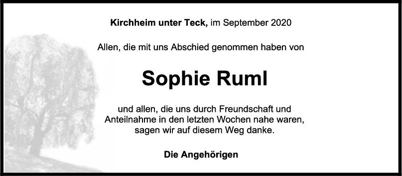 Danksagung Sophie Ruml <br><p style=