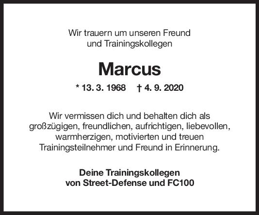 Nachruf Marcus Höftmann <br><p style=