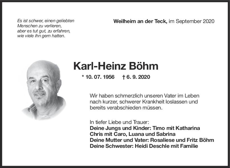 Trauer Anzeige Karl Heinz Böhm <br><p style=
