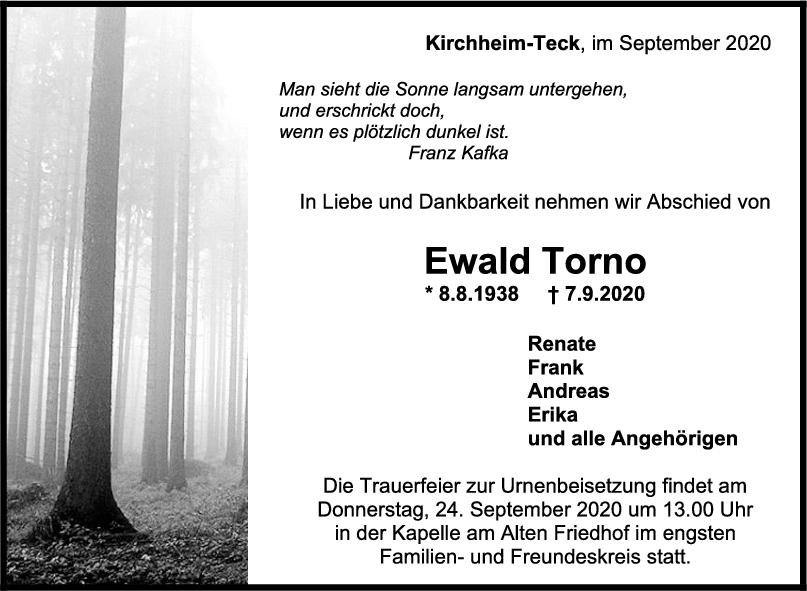 Trauer Ewald Torno <br><p style=