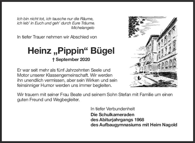 Nachruf Heinz Bügel <br><p style=