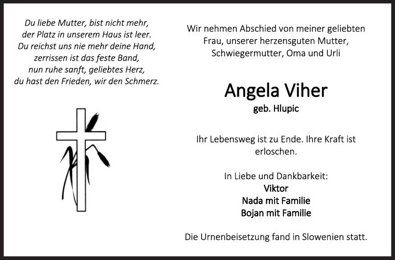 Trauer Angela Viher <br><p style=